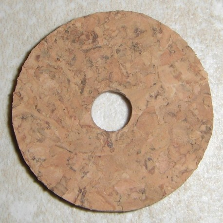 "Natural Burl Cork Rings 1/8"" with 1/4"" Center Hole"