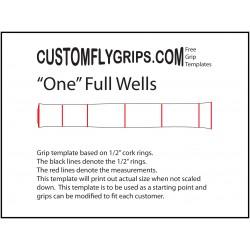 Jeden pełny Wells wolna ogarnięty szablon