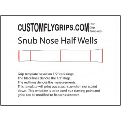 Snub Nose Half Wells Free Grip Template