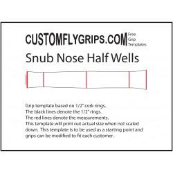 Вздернутый нос половину скважин Бесплатные ручки шаблона