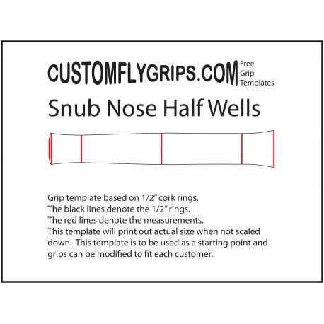 snub nose half wells free grip template