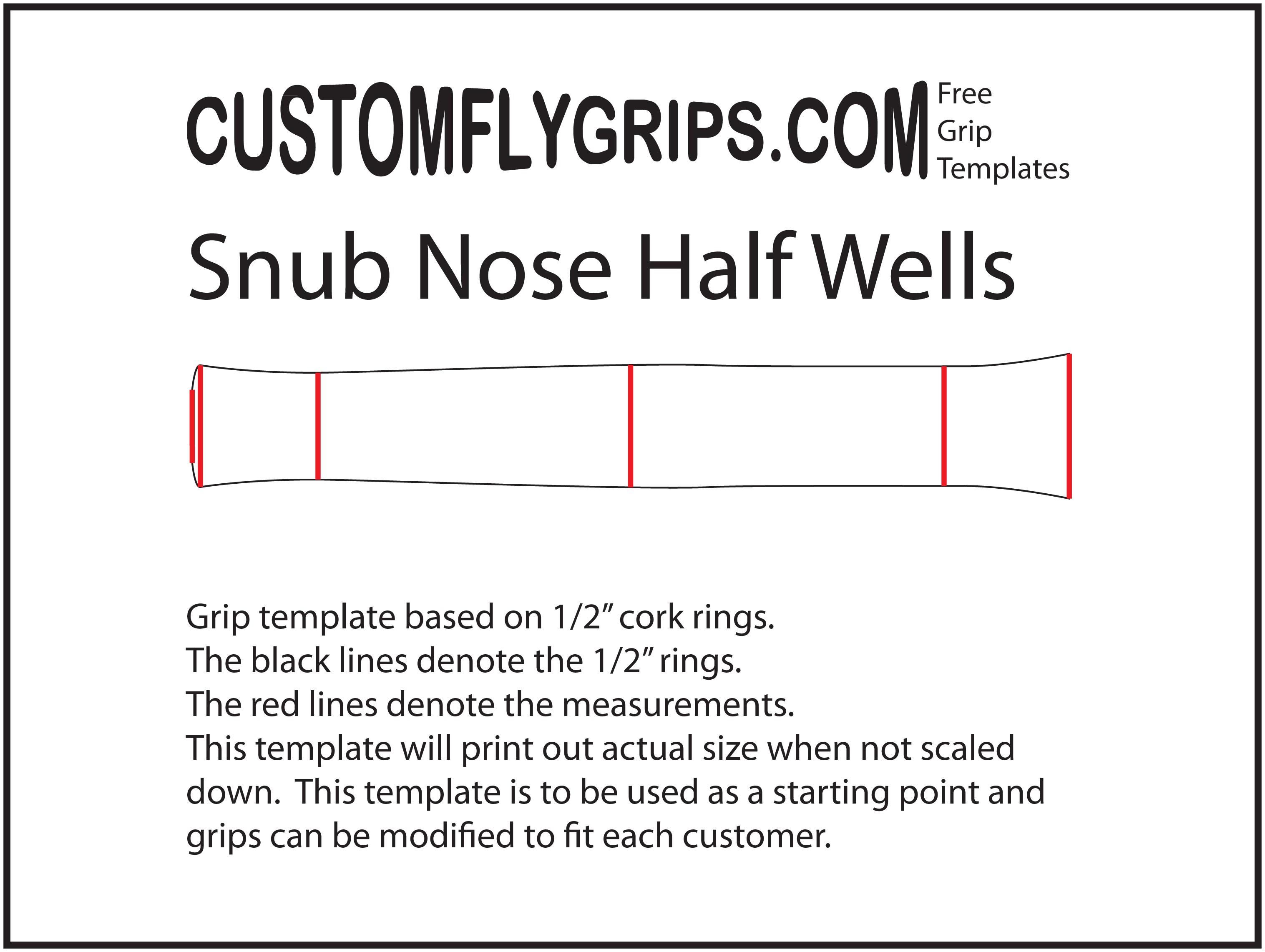 snub nose half wells free grip template custom fly grips llc