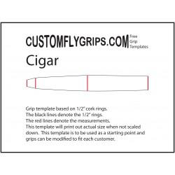 Modèle de poignée libre de cigare
