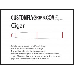 Plantilla de agarre libre de cigarro