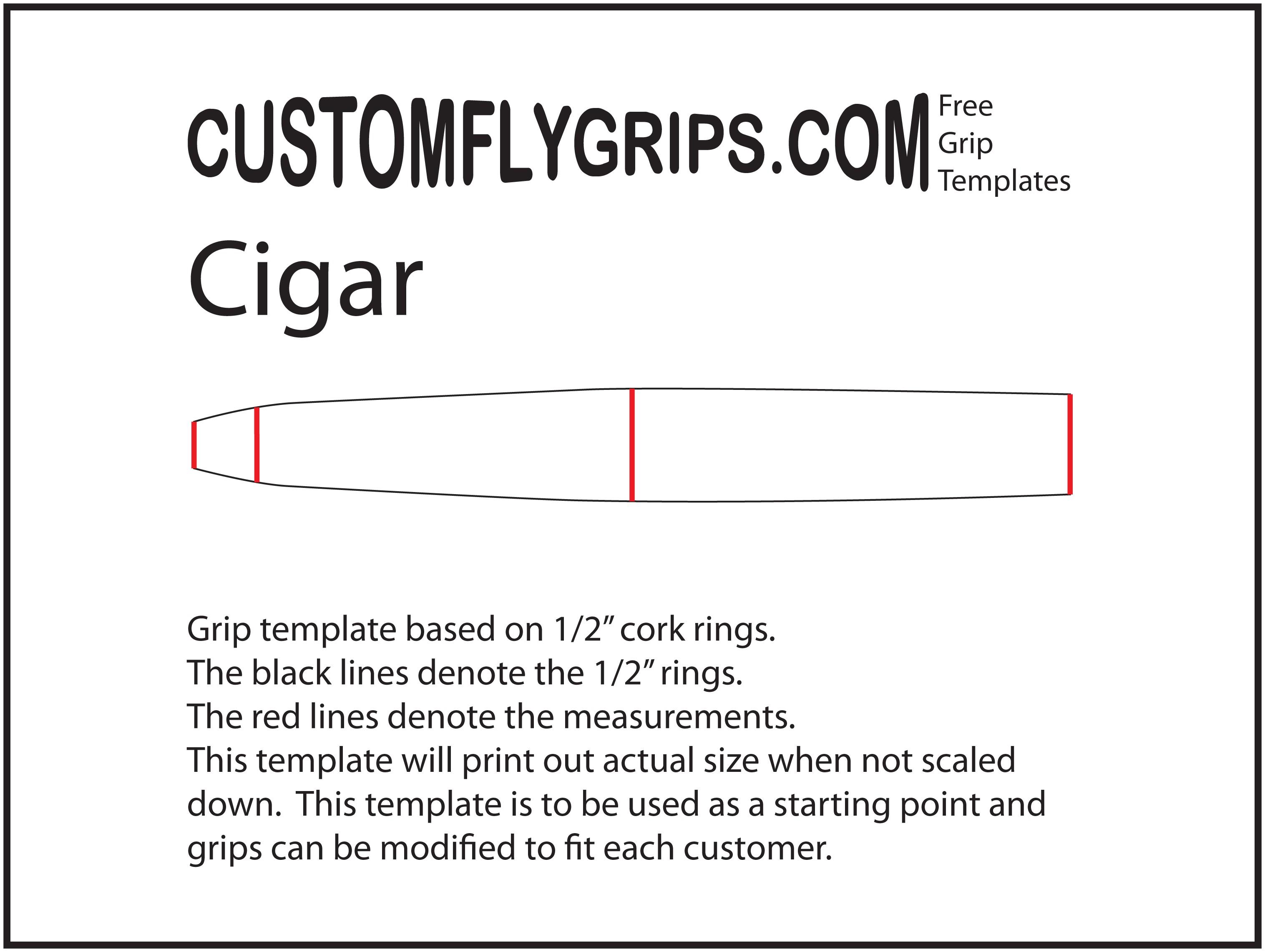 Plantilla de agarre libre de cigarro - Custom Fly Grips LLC