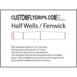 Halve Wells / Fenwick gratis Grip sjabloon
