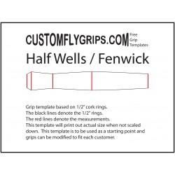 Medio de pozos / Fenwick gratis plantilla de agarre