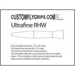 Telaga separuh belakang ultrafine bebas cengkaman Template