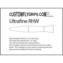 Ultrafine Reverse Half Wells Free Grip Template