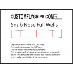 Snub Nose Full Wells Free Grip Template