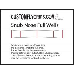 Väheksyntää nenä koko Wells vapaa Grip Template