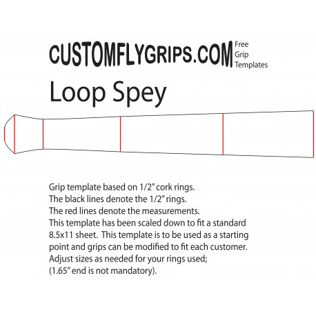 "12"" Loop Spey Free Grip Template"