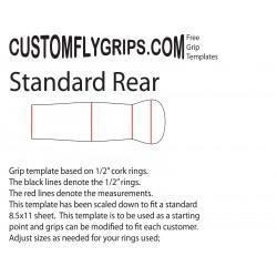 Standaard achterzijde Spey gratis Grip sjabloon