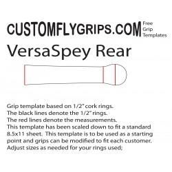 Achterzijde VersaSpey gratis Grip sjabloon