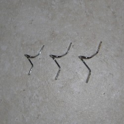 Chrome Double Foot Fly Guides