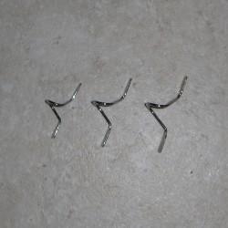 Guides de mouche Double pied chromé